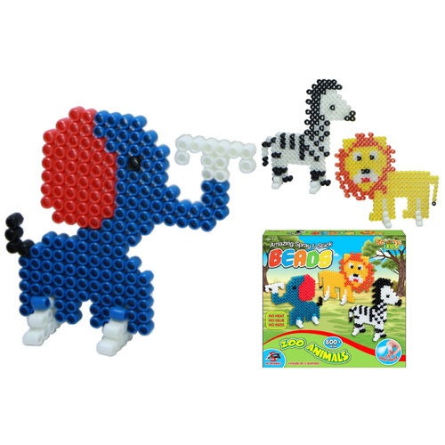 Zoo Animals Spray and Stick Beads