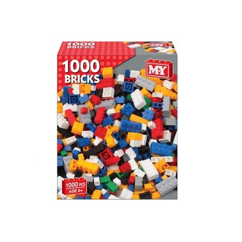 1000 Building Bricks (Assorted Colours)