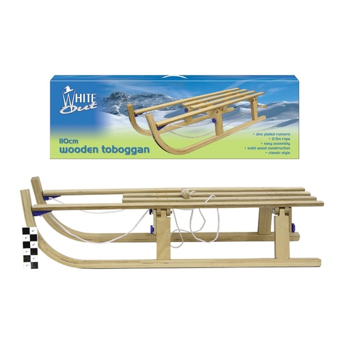 Wooden Toboggan Snow Sled