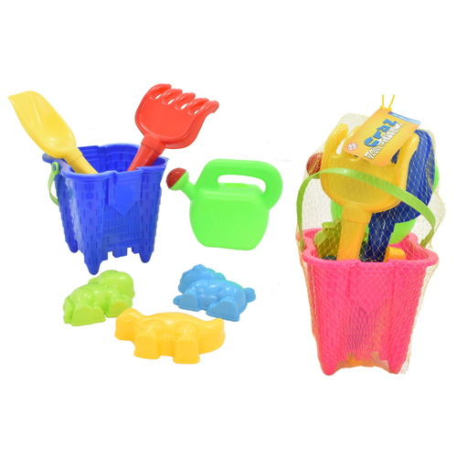Bucket and Spade Castle Set in Pink