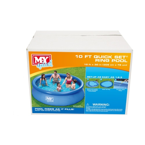 10ft Inflatable Quick Set Swimming Pool (Quick set)