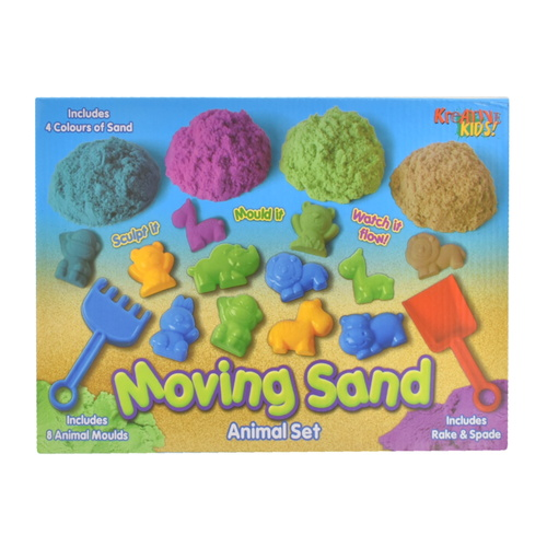 600g Moving Sand With 8pc Animal Accessories