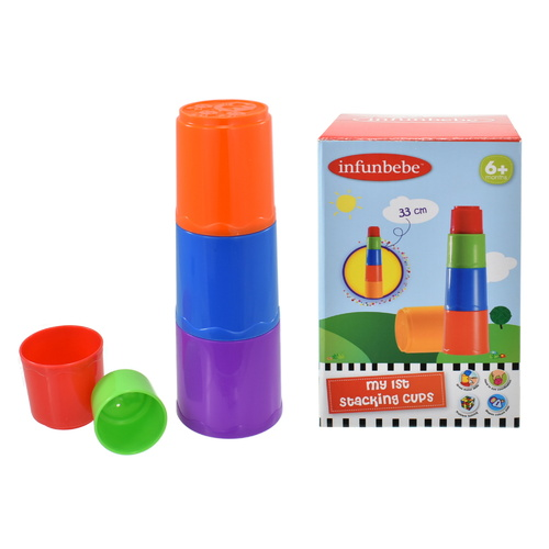 Infunbebe My First Stacking Cups Activity Playset