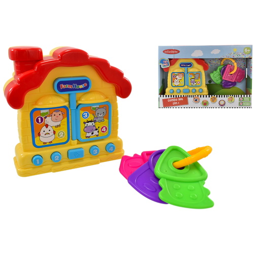 Infunbebe Baby Combo Farm House & Rattle Keys Play Set