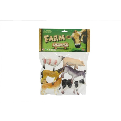 Farm Animals Figure Set (6pcs)
