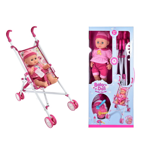 Baby Doll Stroller Playset