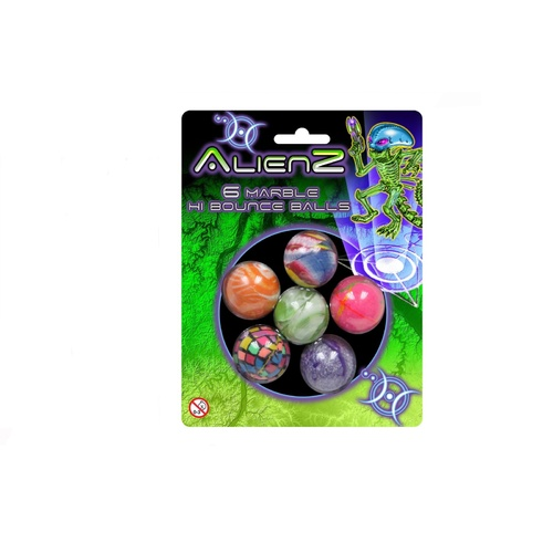 6 Marble Hi Bouncy Balls