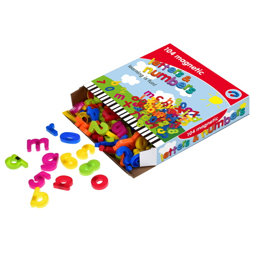 104pc Magnetic Letters & Numbers