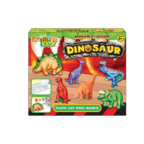 Dinosaur Mould and Paint Fridge Magnet Kit