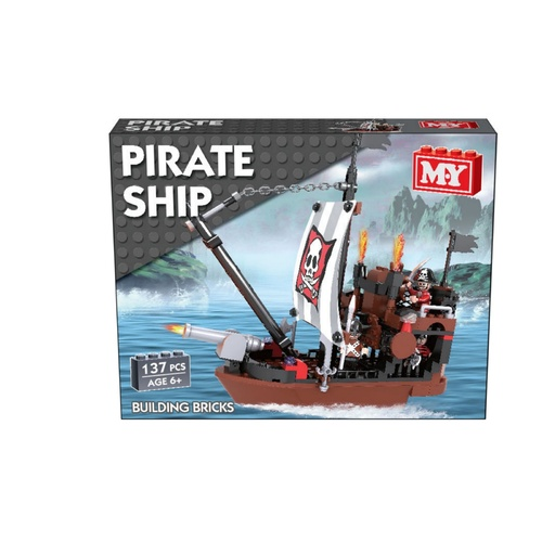 Pirate Ship Building Bricks (137pcs)