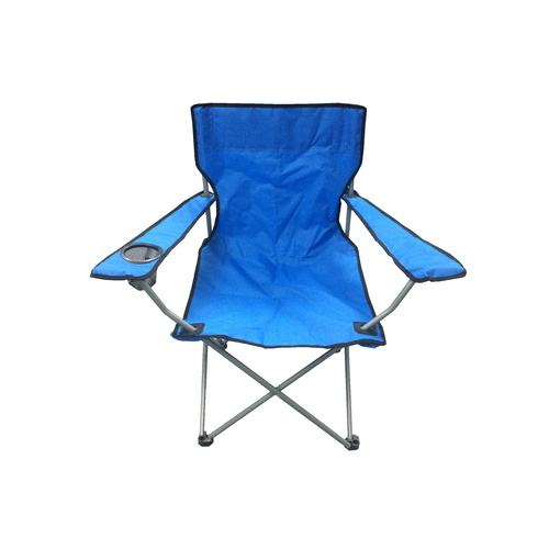 Camping Chair with Cup Holder in Blue and Black