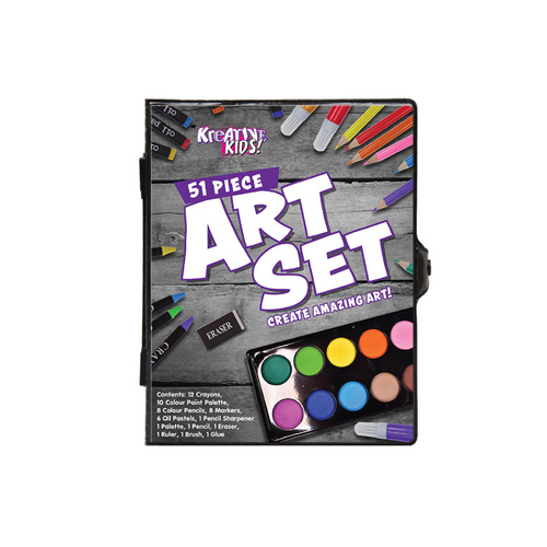 Art Set in Colour Case (51 pieces)