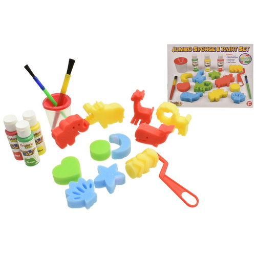 Jumbo Sponge and Paint Set