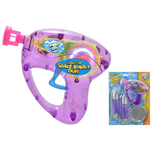 Light Up Space Gun & Bubble Rockets Play Set