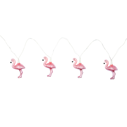 Flamingo Party String Lights in Rose Gold