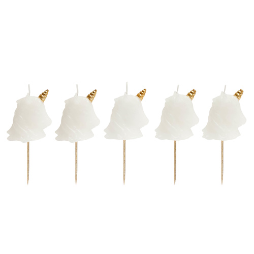 Unicorn Cake Candles (Set of 5)
